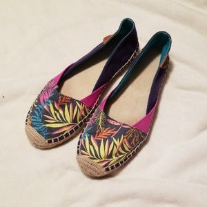 Sperry multi-color patterened espadrilles